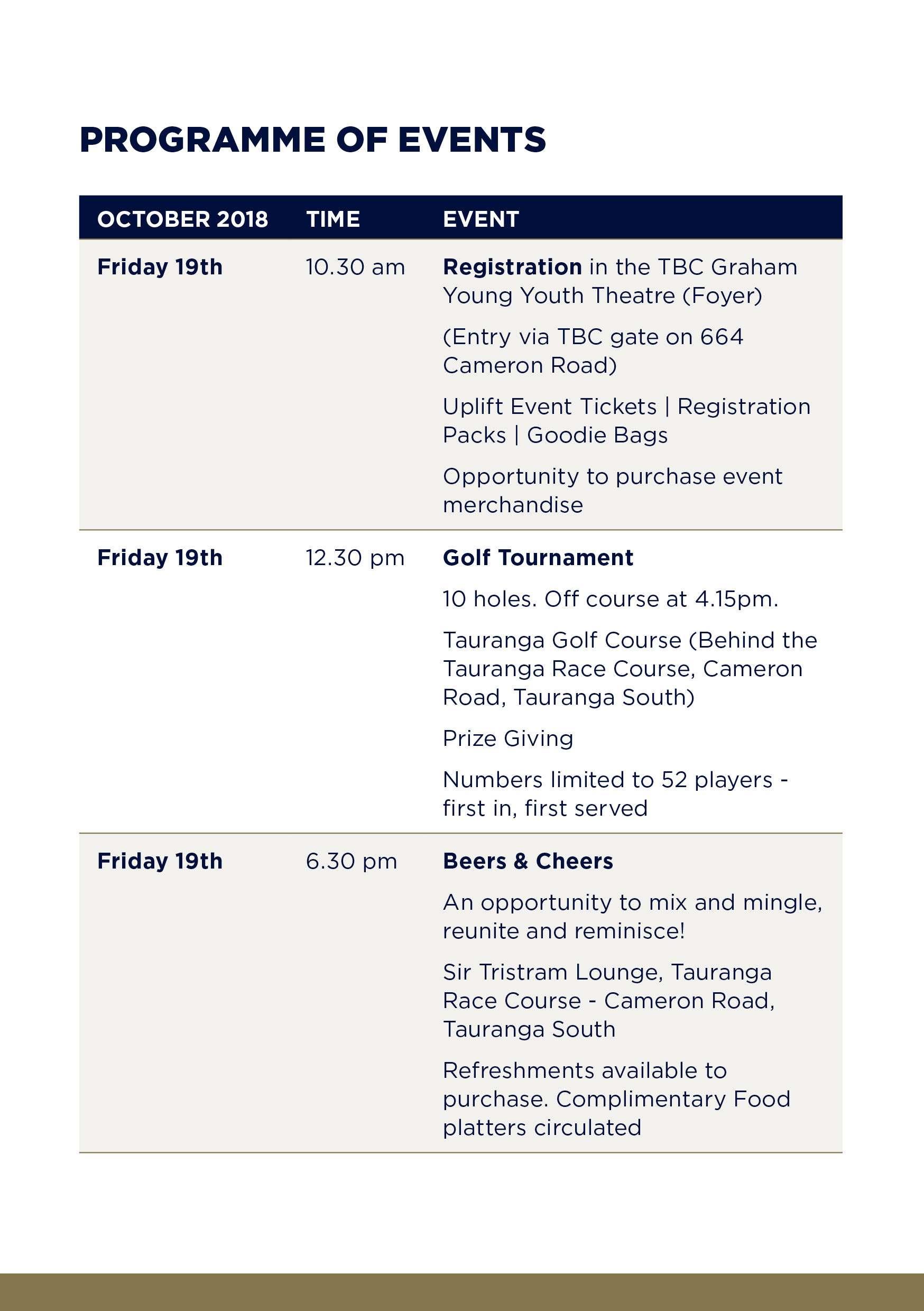 Tbc 60th Jubilee Weekend Prog Booklet Events